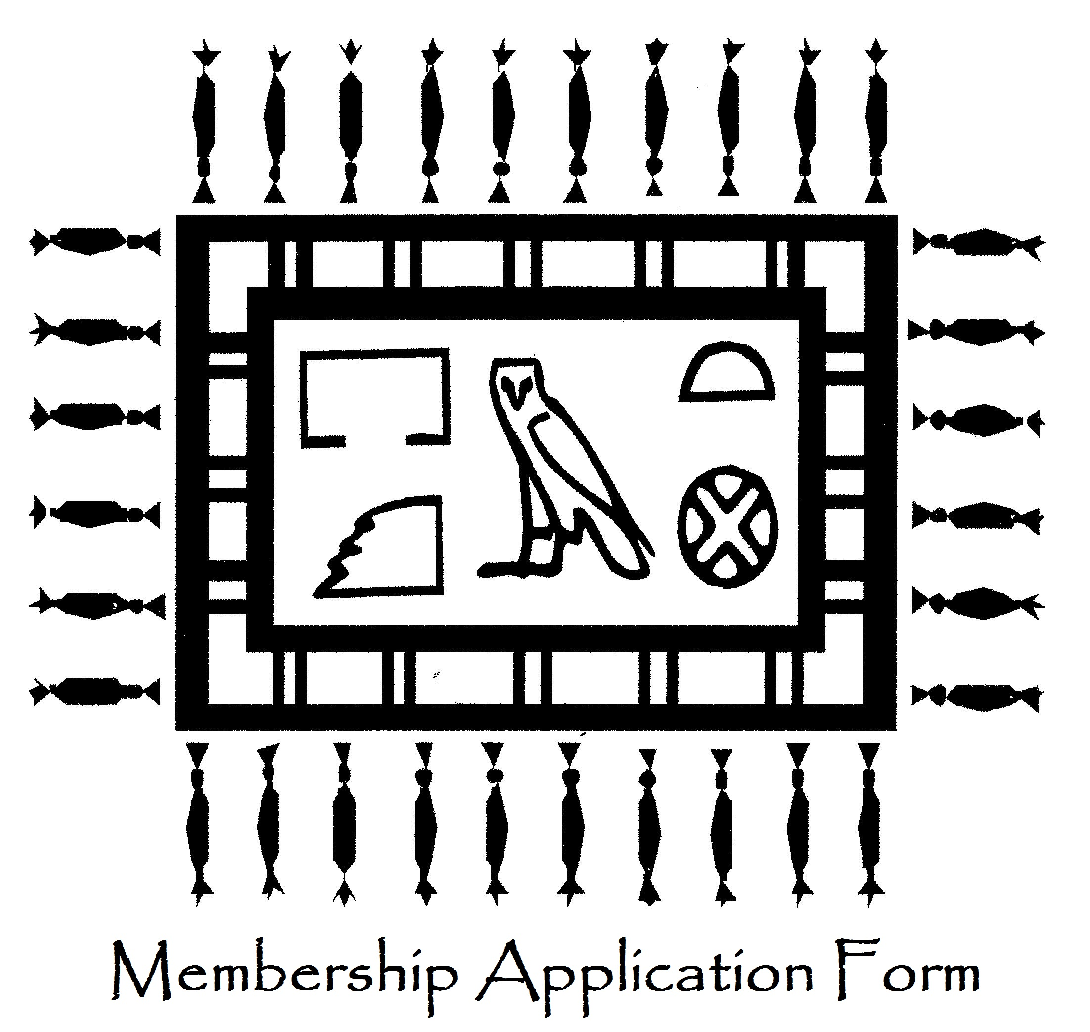 Membership application form image for website